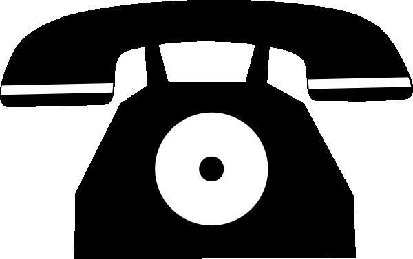 Tel clipart vector.