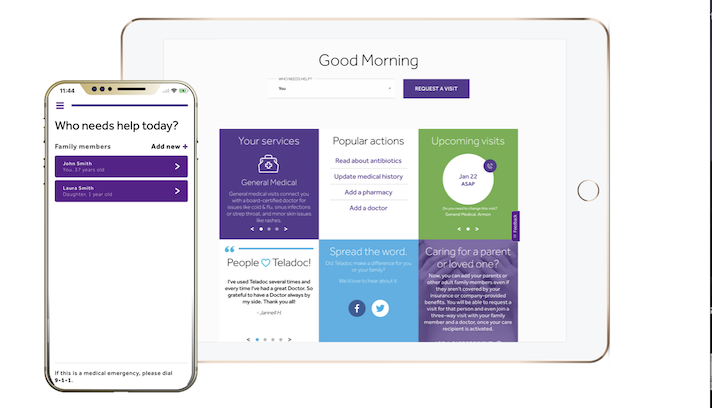 Teladoc adds back health tool for members.
