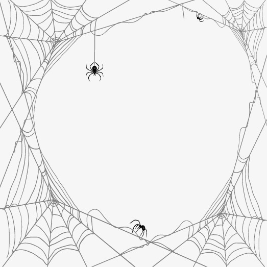 Spiders And Cobwebs Vector Design Material, Spider, Cobweb.