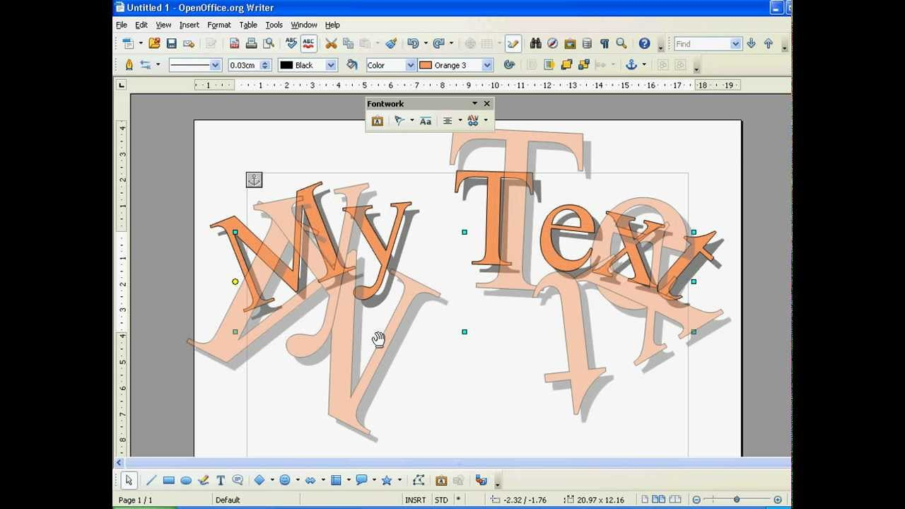 Open Office How to Use WordArt (Fontwork).