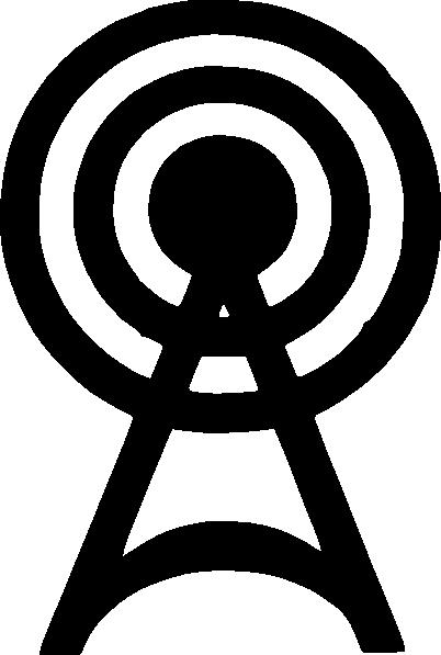 Radio Tower Logo 2 clip art.