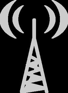 Gray Radio Tower Clip Art at Clker.com.