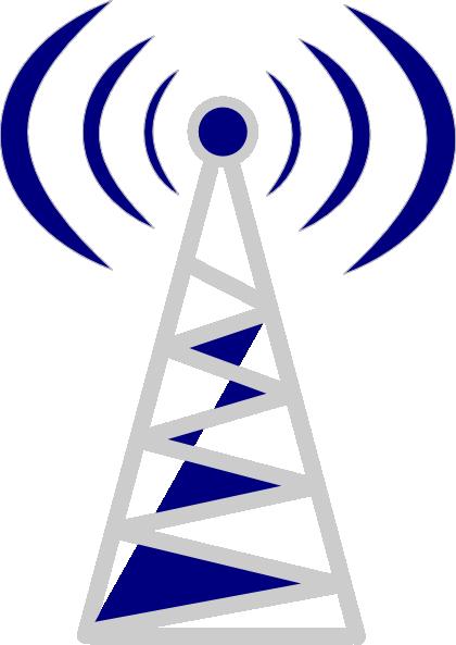 Telecom Tower Blue Clip Art at Clker.com.