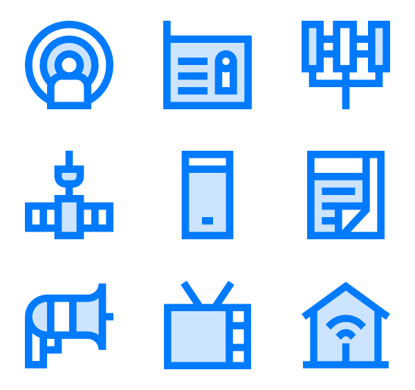 7 telecommunication icon packs.