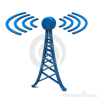 Cell Tower Top Antennae Stock Image.