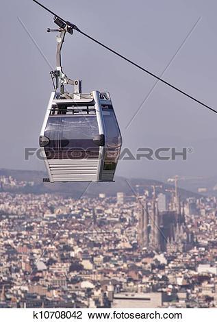 Stock Photo of Teleferic of Montjuic k10708042.