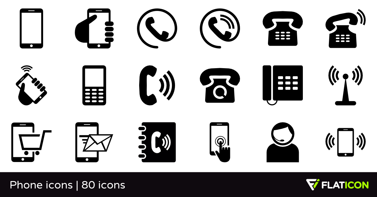 Phone icons 80 free icons (SVG, EPS, PSD, PNG files).