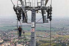 Telegondola From Piatra Neamt Stock Photo.