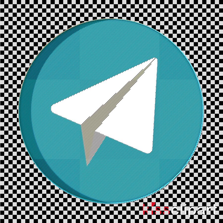 Telegram icon Social media icon clipart.