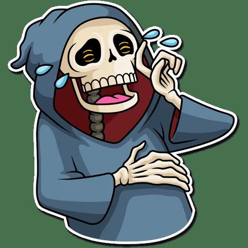 "Friendly Death"" stickers set for Telegram."