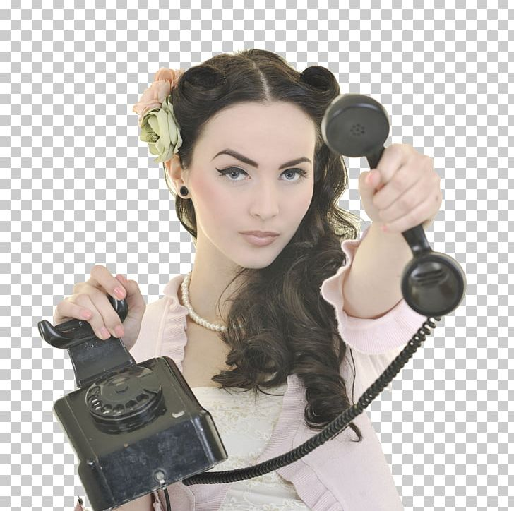 Telephone Woman Microphone Stock Photography PNG, Clipart.