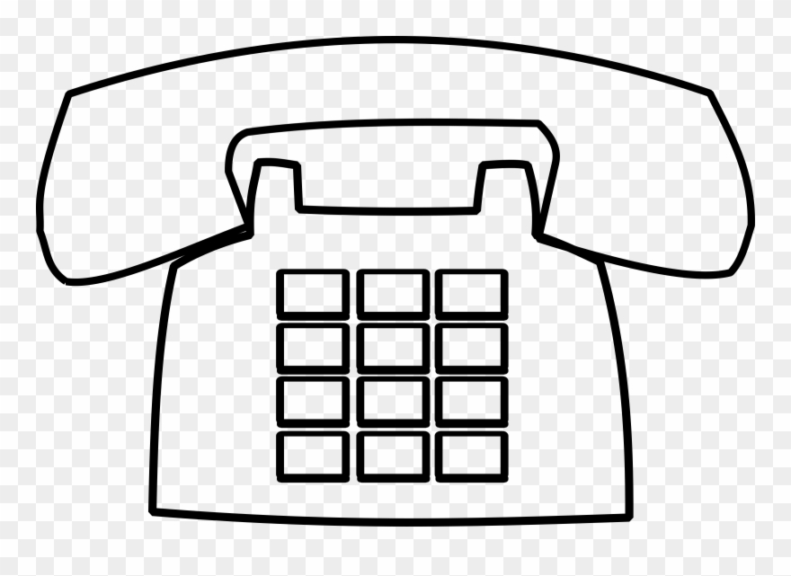 Telephone Clipart Black And White Clip Art.