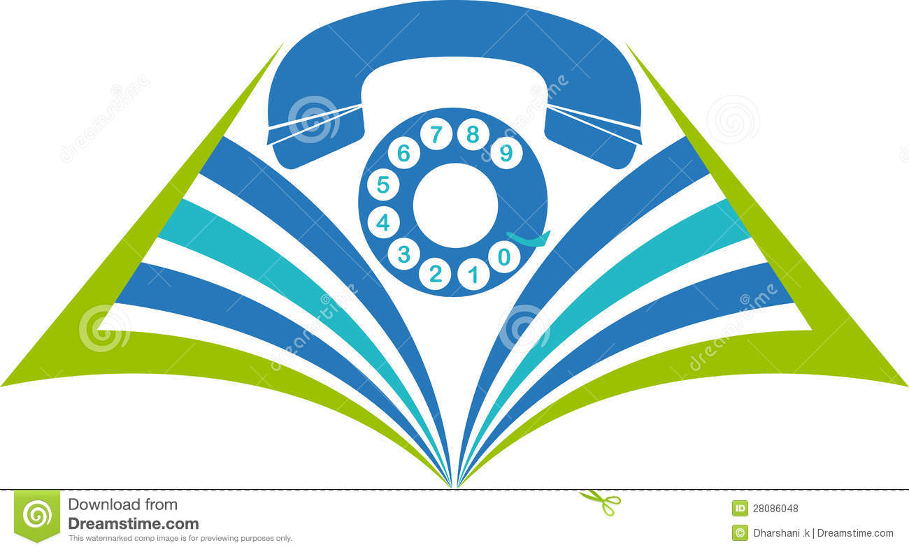Book Phone Logo Royalty Free Stock Photos.
