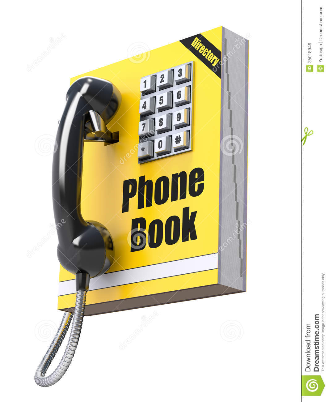 Phone Book Concept Royalty Free Stock Images.