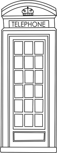 telephone box clipart