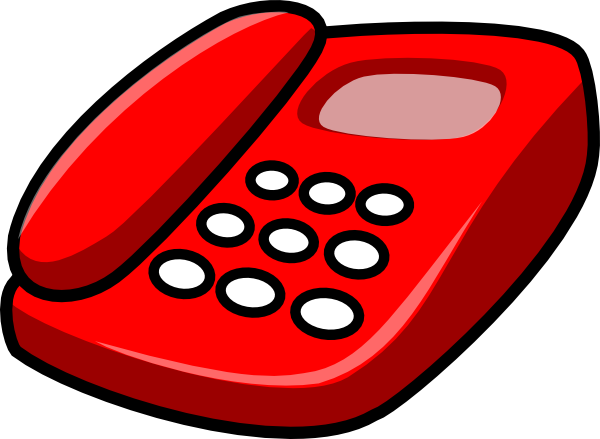 Red Telephone Clip Art at Clker.com.