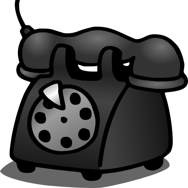 Old Telephone Clip Art at Clker.com.