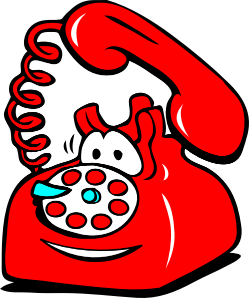Telephone Clip Art Black And White.