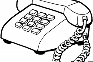 Telephone clipart black and white » Clipart Portal.