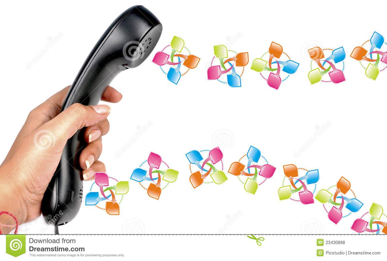 Telephone Communication Royalty Free Stock Photos.
