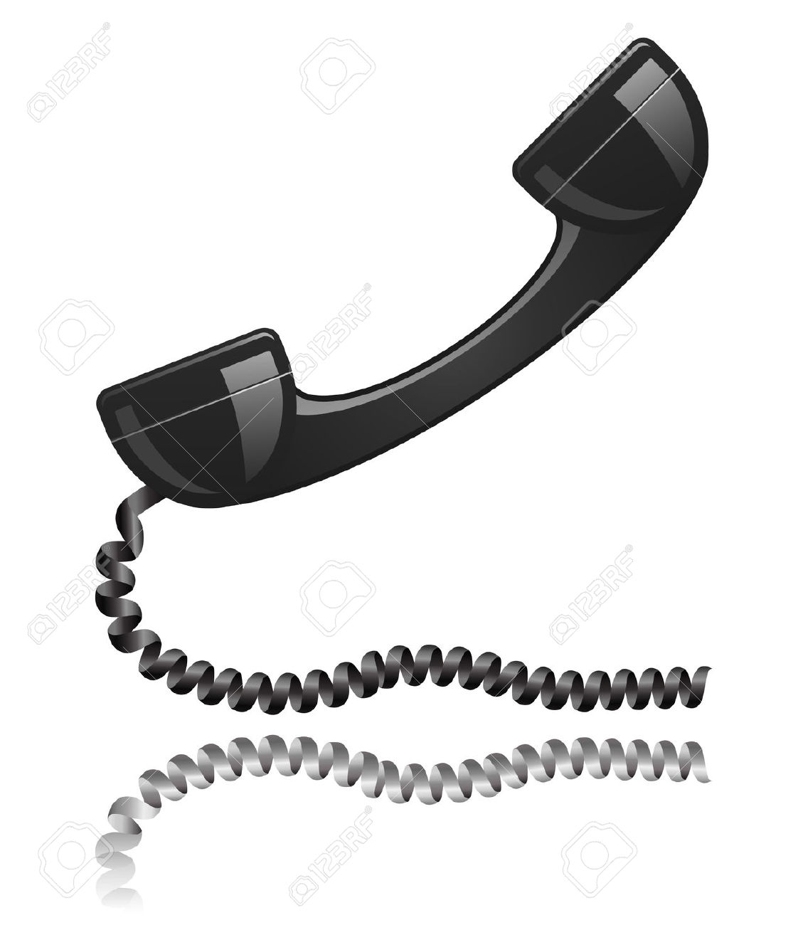 Showing post & media for Cartoon telephone handset.