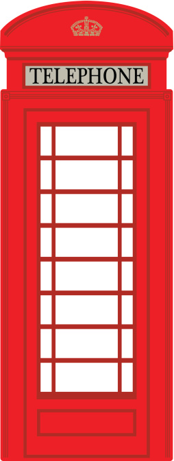 London Telephone Booth Clipart.