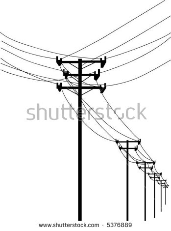 Telephone Lines Clipart