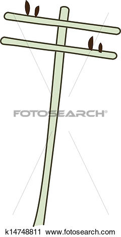 Clipart of A telephone pole k14748811.