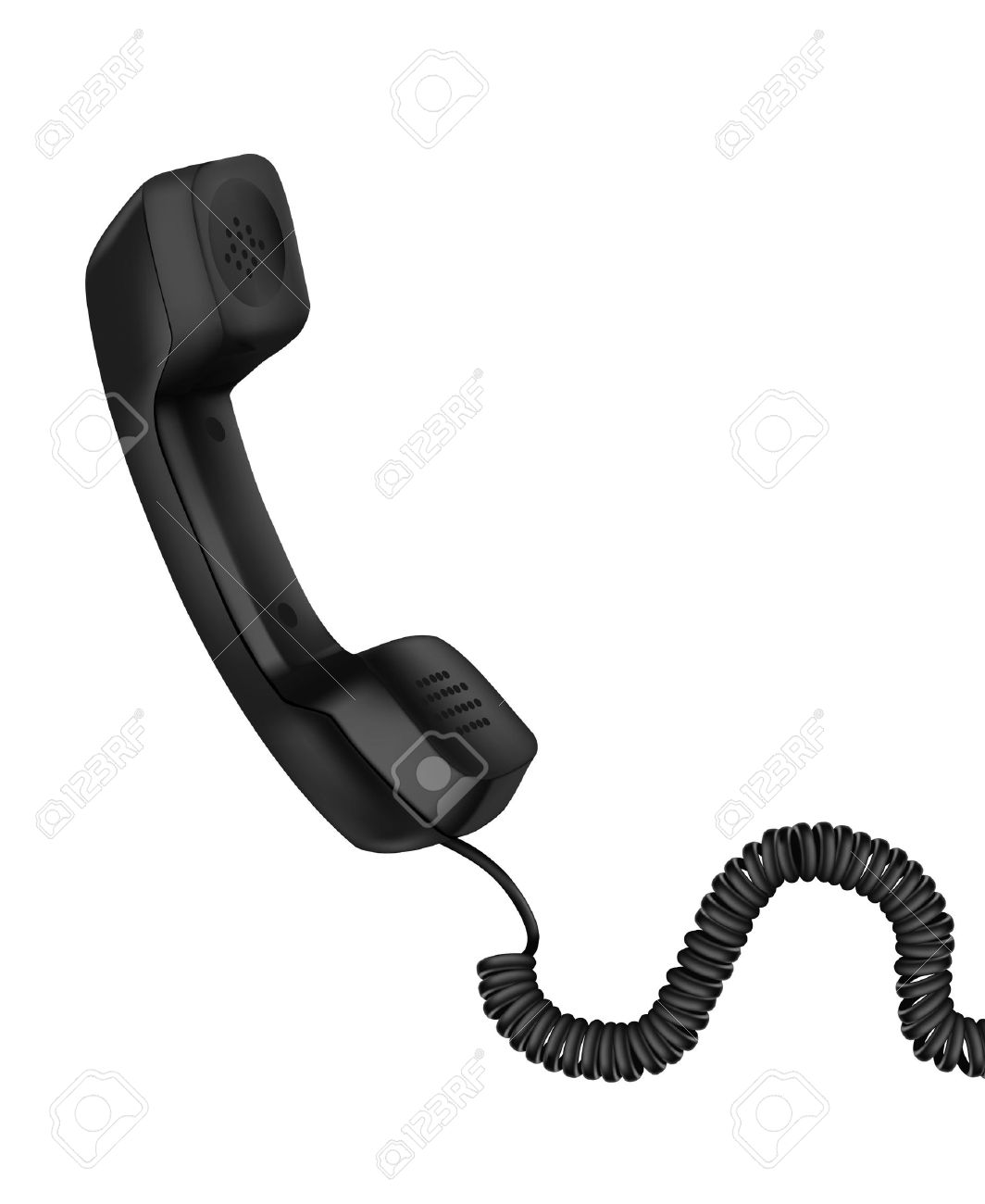 Telephone receiver clipart.