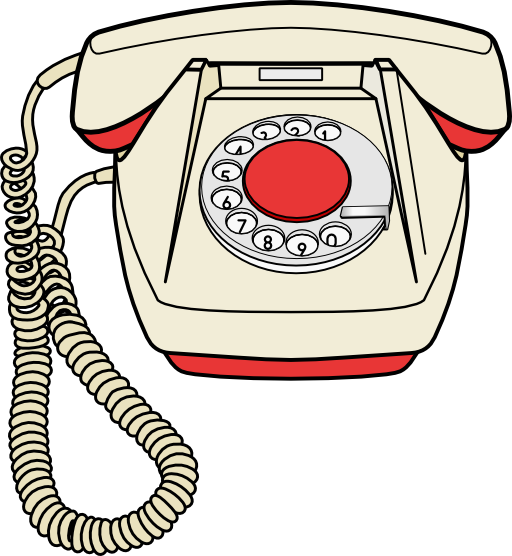 telephone set clipart #3