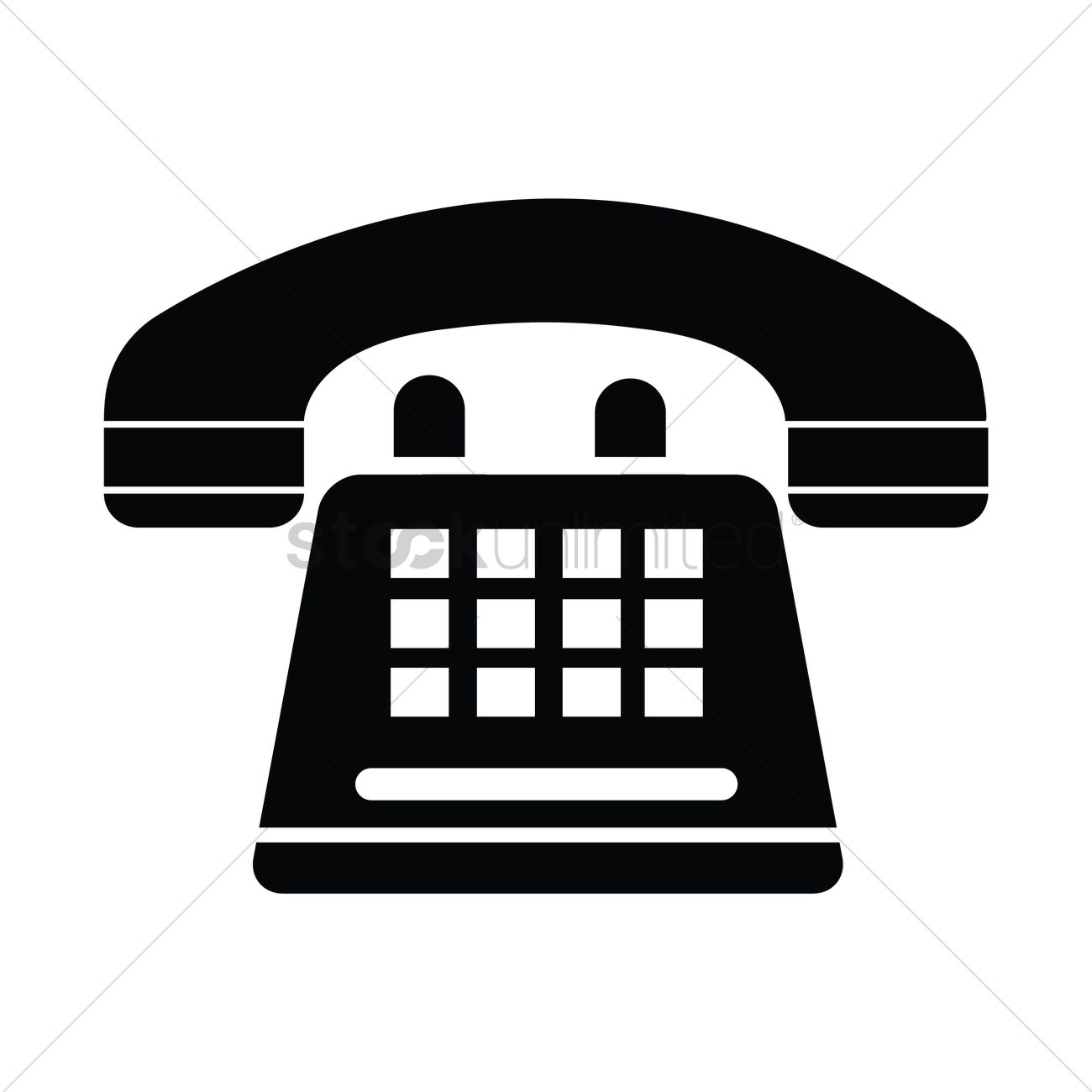 Silhouette of a telephone Vector Image.