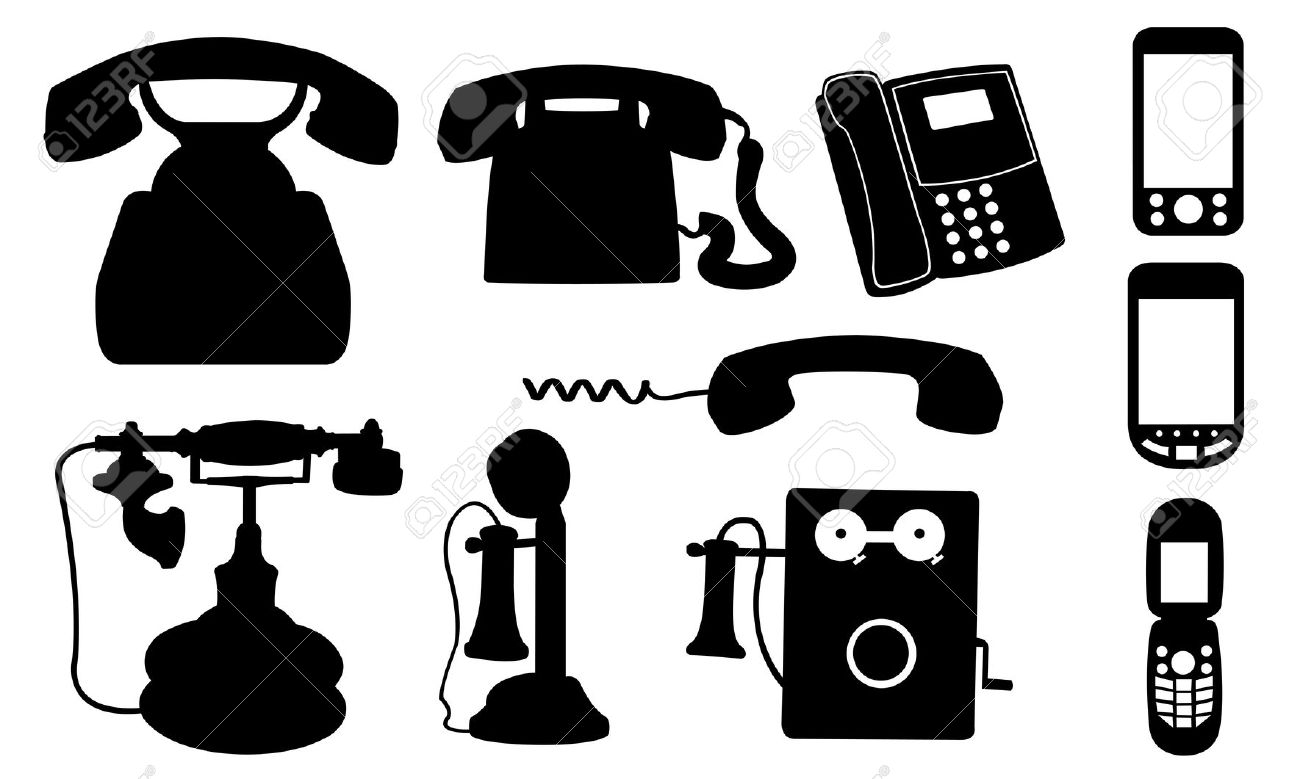 Telephones Isolated On White Royalty Free Cliparts, Vectors, And.