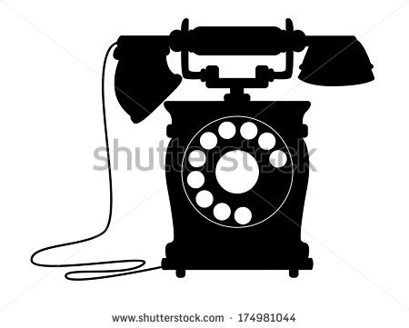 Telephone Silhouette Stock Images, Royalty.