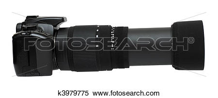 Stock Image of camera with telephoto zoom lens k3979775.