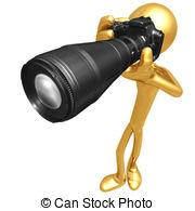 Clip Art of Photographer.