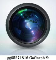 Telephoto Lens Clip Art.