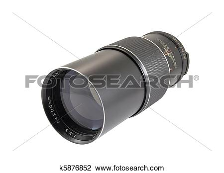 Stock Photo of Vintage Telephoto Lens k5876852.