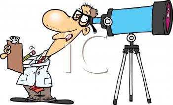 Telescope Animated Clipart.