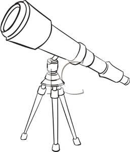718 Telescope free clipart.