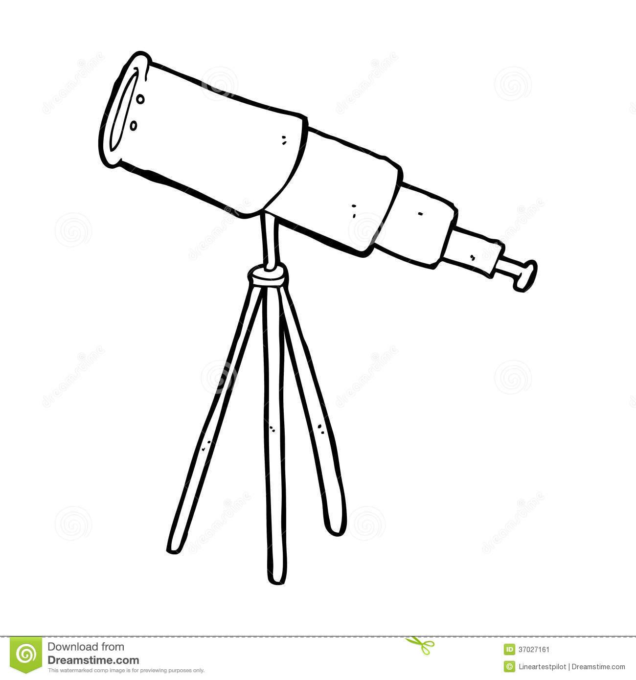 Telescope Clipart Black And White.