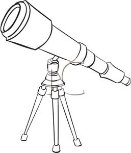 Telescope clipart black and white 1 » Clipart Station.