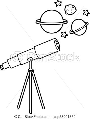 Telescope clipart black and white 2 » Clipart Station.