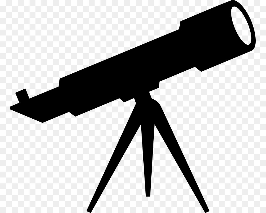 Telescope Black png download.