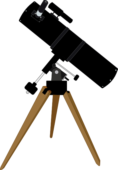 Reflector Telescope Clip Art at Clker.com.