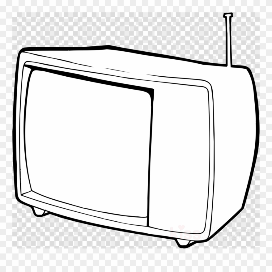 Tv Outline Clipart Black And White Television Clip.