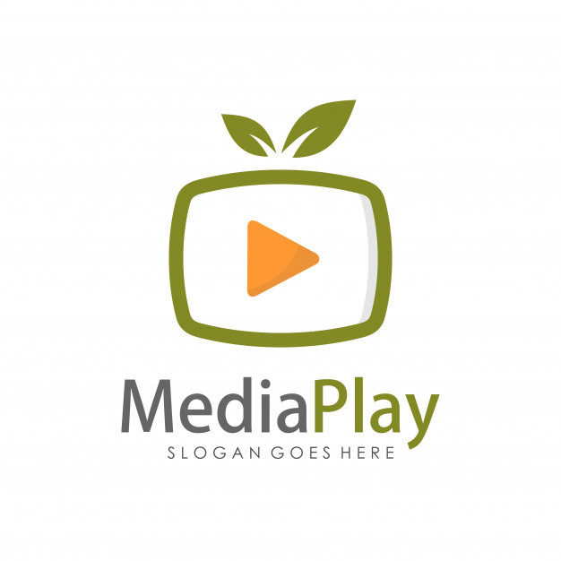 Creative media television logo design template Vector.