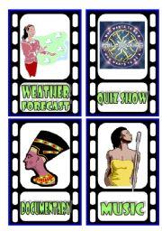 English teaching worksheets: TV programmes.