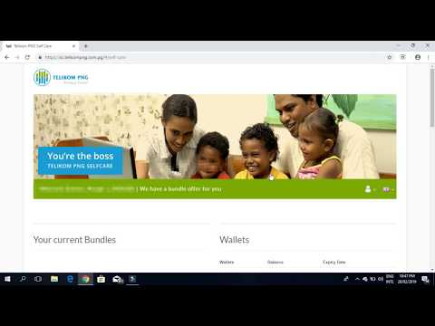 How to top up Telikom PNG Internet Data on Self Care.