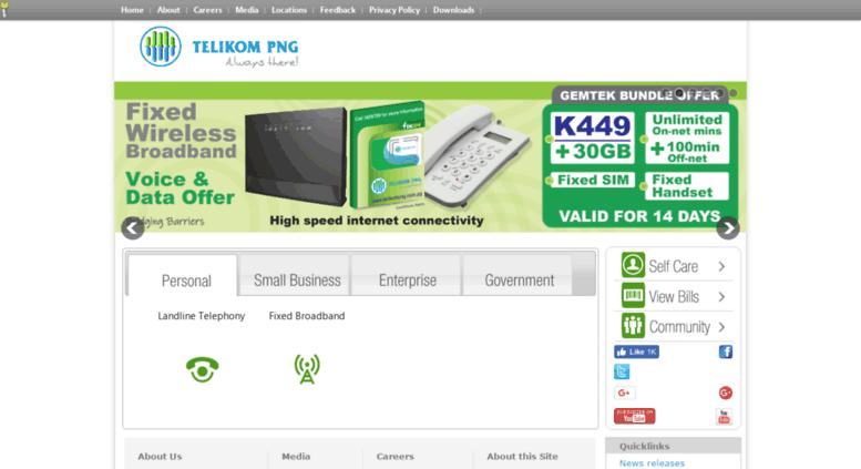 Access telikompng.com.pg. Telikom PNG.