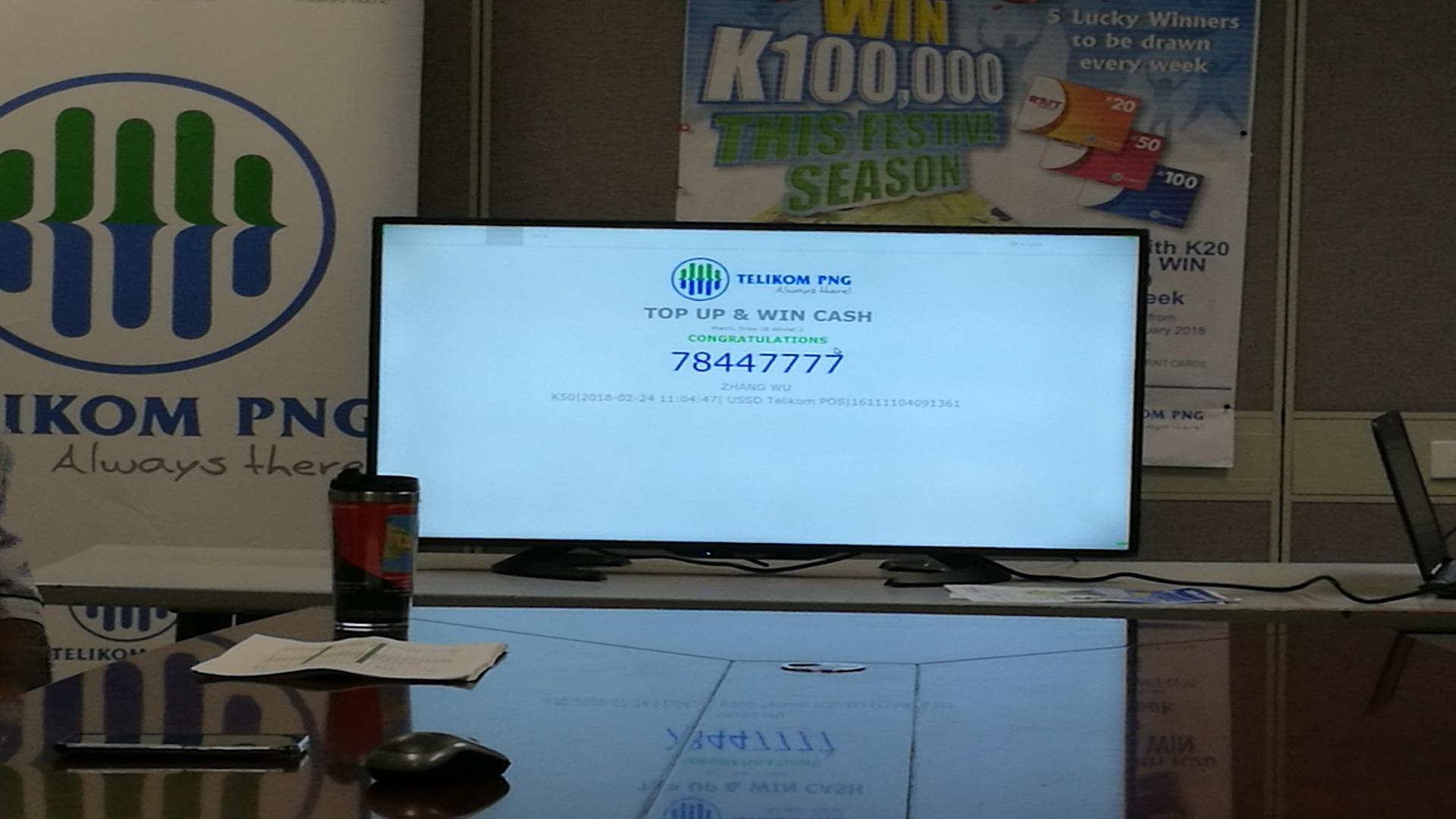 Telikom\'s K100,000 Cash Promotion Concludes.